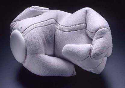 lilac plaster reconciled baby sculpture