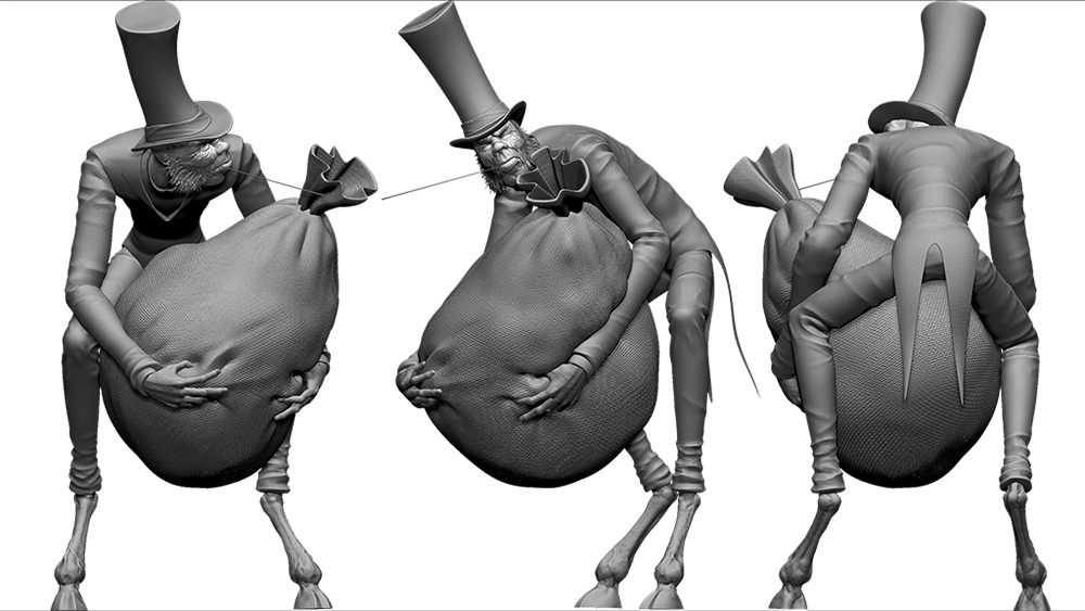 3d model of seven deadly sins character greed by evan bujold